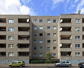Plattenbau - A typical low Plattenbau in Berlin