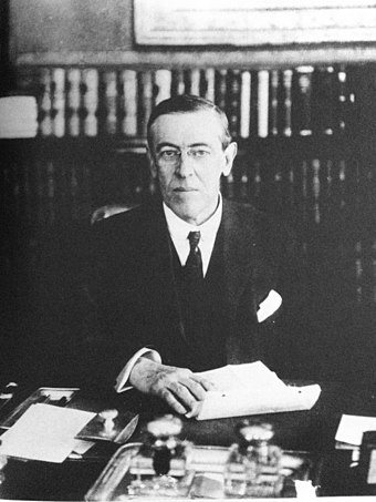 Roosevelt supported Governor Woodrow Wilson in the 1912 presidential election.