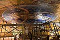 Work on mosaic decoration in the dome of St Sava.jpg