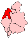 A medium constituency in the west of the county.