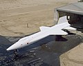 X-15A-2 is rolled out of the paint shop after having the full scale ablative applied.jpg