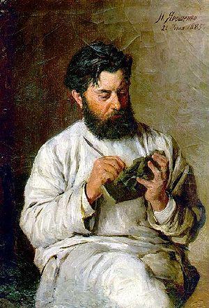 Портрет Л. В. Позена работы Н. А. Ярошенко (1885)