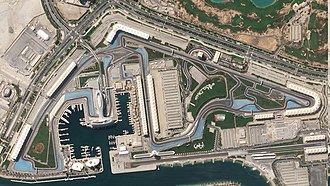 Yas Marina Circuit - A satellite image of the circuit, as it appeared in 2018