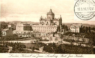 History of Lviv - Greek-catholic Cathedral of St. George (in 1916)