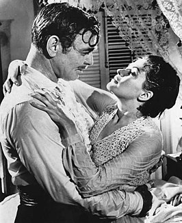 Clark Gable en Yvonne De Carlo in Band of Angels