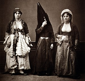 Demographics of Lebanon - Three Lebanese women in 1873.