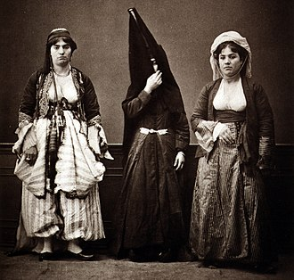 Demographics of Lebanon - Three Lebanese women in 1873.