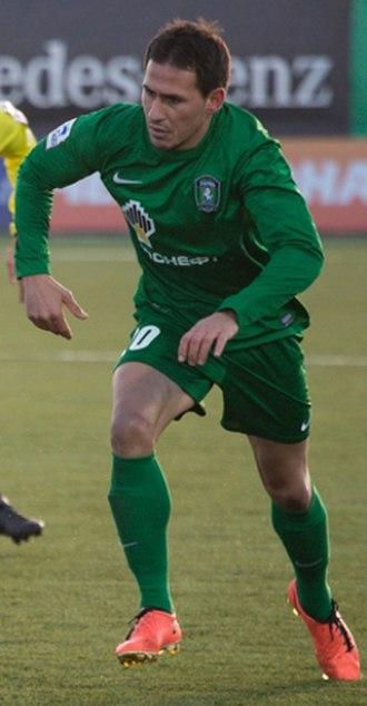 Zhivko Milanov - Milanov playing for Tom Tomsk in 2013