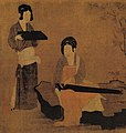 Zhou Fang. Court Ladies Tuning the Lute (28x75) Nelson-Atkins Museum of Art, Kansas City (cropped).jpg