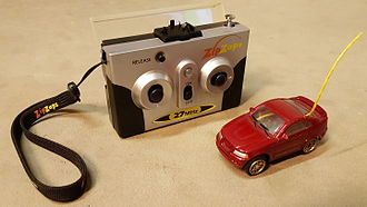 ZipZaps - A red Ford Mustang ZipZaps toy with remote control.