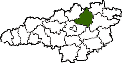 Vị trí của huyện Znamianka trong tỉnh Kirovohrad
