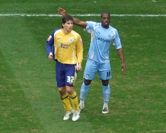 Zsolt Laczkó - Laczkó playing for Leicester City in February 2008