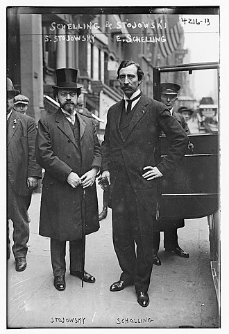 Ernest Schelling - Zygmunt Stojowski and Ernest Schelling on May 18, 1917 for the funeral of Guillaume Stengel