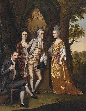 """Henry Benbridge - Image: """"Enoch Edwards Family 1779"""" by the artist Henry Benbridge"""
