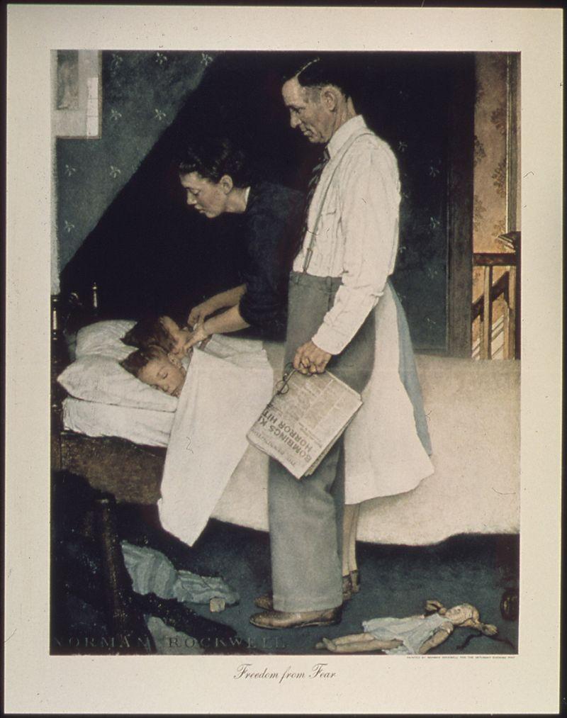 諾曼.諾克威爾《免於恐懼的自由》,1943