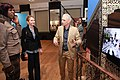 """""""New Orleans-The Sound of a City"""" exhibit opening Exhibit curator Clemens Gubernath guides Mrs Emerson through the exhibit (16729063387).jpg"""