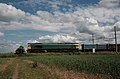 'Anonymous' Class 66, 66740 passes Langford, Bedfordshire. - panoramio.jpg