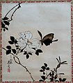 'Butterfly and Wild Rose' by Shibata Zeshin, 1885, Honolulu Museum of Art, 4658.1.JPG