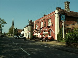Great Cornard - Image: 'Five Bells' inn, Great Cornard, Suffolk geograph.org.uk 168721