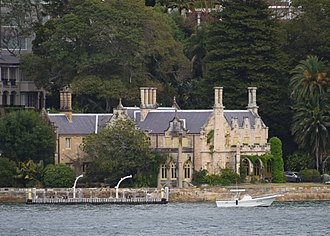 Thomas Mitchell (explorer) - Carthona, Mitchell's home in Darling Point
