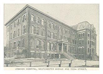 Bronx-Lebanon Hospital Center - Lebanon Hospital, 1893