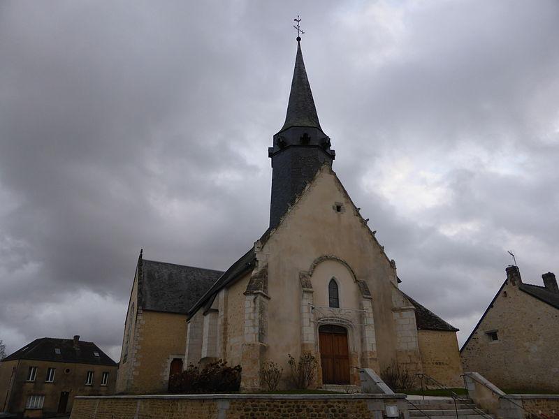 Église Saint-Pierre de Coulimer, dans l'Orne.