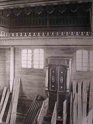 Lunna, Belarus - Image: Łuńnienskaja synagoga. Луньненская сынагога (S. Zajčyk, 1930) (3)