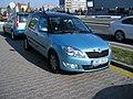 Škoda Roomster bicolor in Mladá Boleslav front.JPG
