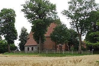 Żerniki, Żnin County - Virgin Mary church from about 1467.