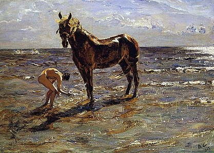 Bathing of a horse (1905)