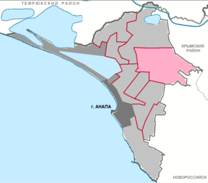 Гостагаевский сельский округ на карте