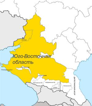 Юго-Восточная область на карте