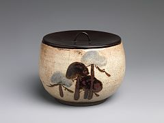 伝尾形乾山 松文水差-Water Jar (Mizusashi) with Pine Trees MET DP247424.jpg