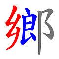 倉頡字首分割 鄉.jpg