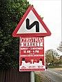 -2019-11-04 Sign and poster, Mundesley Road, Trimingham.JPG