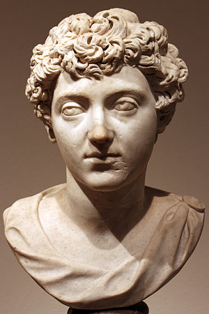 Early life and career of Marcus Aurelius - Bust of a young Marcus Aurelius as the heir apparent, 138-144 AD, Altes Museum, Berlin