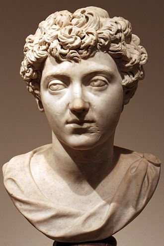 Early life of Marcus Aurelius - Bust of a young Marcus Aurelius as the heir apparent, 138-144 AD, Altes Museum, Berlin