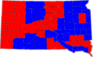 United States Senate election in South Dakota, 2004 - Image: 04SDsenatecounties