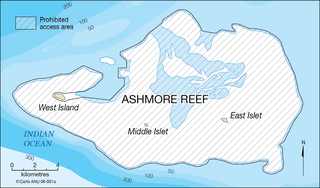 Karte von den Ashmore-Inseln