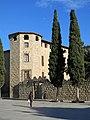 065 Monestir de Sant Cugat del Vallès, palau abacial, pl. Octavià.JPG