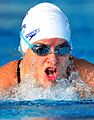 080511 - Amanda Fowler swimming - 3b - 2011 Oceania Paralympic Championships action photo.jpg