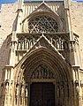 108 Catedral de València, porta dels Apòstols i rosassa.JPG