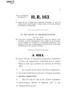 116th United States Congress H. R. 0000163 (1st session) - CLEAN Elections Act.pdf