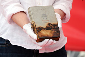 Stefan Zweig - Surviving copy of Zweig's novel Amok (1922) burned by National Socialists