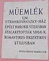 14 Fő Square, plaque, 2020 Pápa.jpg
