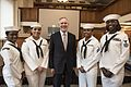 160919-N-LV331-004 - SECNAV Ray Mabus with ceremonial honor guard.jpg