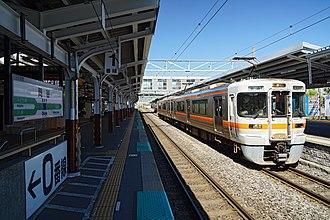 Okaya Station - Image: 170527 Okaya Station Okaya Nagano pref Japan 08n