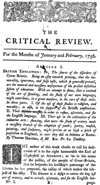 The Critical Review - The Critical Review, no. 1, 1756