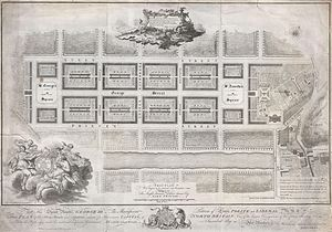 New Town, Edinburgh - Plan for the New Town by James Craig (1768)
