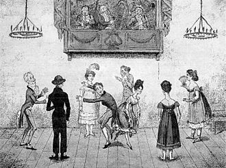 "Quadrille - ""Accidents in Quadrille Dancing"", 1817 caricature"